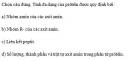 Câu 3 trang 35 SGK Sinh học 10 Nâng cao