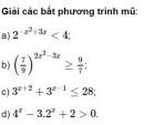 Bài 1 trang 89 SGK Giải tích 12