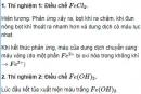 Báo cáo thực hành: Tính chất hóa học của sắt, đồng và nhưng hợp chất của sắt, crom