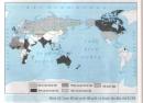 Quan sát lược đồ, kết hợp với bản đồ thế giới và các kiến thức đã học, ghi tên các thuộc địa của Anh, Pháp, Đức, Mĩ.