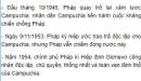 Hãy cho biết nội dung chính của các giai đoạn lịch sử Campuchia từ năm 1945 đến năm 1993.