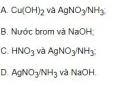 Bài 1 trang 36 SGK Hóa học 12
