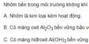 Bài 1 trang 134 SGK hóa học 12