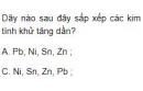 Bài 1 trang 163 SGK Hóa học 12