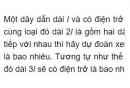 Bài C1 trang 19 SGK Vật lí 9