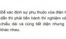 Bài C1 trang 25 sgk vật lí 9