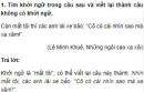 Soạn bài Kiểm tra phần Tiếng Việt - một số đề luyện tập trang 155 SGK Văn 9