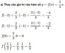 Bài 1  trang 44 sgk Toán 9 tập 1