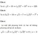 Bài 4 trang 7 SGK Toán 9 tập 1