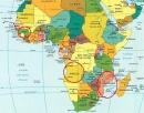 Hãy xác định trên bản đồ châu Phi vị trí 3 nước Ăng-gô-la, Mô-dăm-bích và Ghi-nê Bít-xao