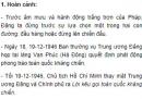 Chủ tịch Hồ Chí Minh ra Lời kêu gọi toàn quốc kháng chiến trong hoàn cảnh nào? Nêu nội dung Lời kêu gọi... đó