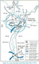 Dựa vào lược đồ (Hình 54), trình bày diễn biến chiến dịch lịch sử Điện Biên Phủ (1954)
