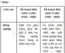 Lập bảng so sánh về những thành tựu đã đạt được giữa hai kế hoạch Nhà nước 5 năm (1976 - 1980) và (1981 - 1985)