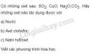 Bài 1 trang 21 SGK Hóa học 9