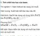 Báo cáo thực hành: Tính chất hóa học của bazơ và muối