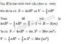 Bài 18 trang 135 SGK Toán 9 tập 2