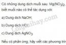 Bài 3 trang 33 SGK Hóa học 9