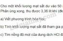 Bài 6 trang 19 SGK Hóa học 9