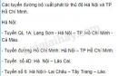 Dựa  vào hình 14.1, hãy xác định các tuyến đường bộ xuất phát từ thủ đô Hà Nội và TP. Hồ Chí Minh.