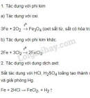 Bài 1 trang 60 sgk hoá học 9
