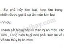 Bài 1 trang 67 SGK Hoá học 9