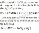Bài 3 trang 72 SGK Hóa 9