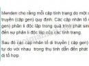 Câu 1,2, trang 19, SGK Sinh học lớp 9