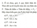 Bài 2, trang 22, SGK Sinh học 9