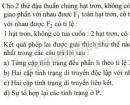 Bài 4 trang 43 SGK Sinh học 9