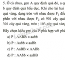 Bài 5 trang 23 SGK Sinh học 9