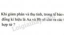 Bài 5 trang 36 SGK Sinh học 9