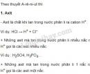 Bài 1 trang 10 sgk Hóa học 11
