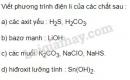 Bài 2 trang 10 SGK Hóa học 11