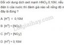 Bài 5 trang 10 SGK Hóa học 11