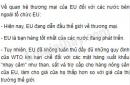 Hãy nêu nhận xét về quan hệ thương mại của EU đối với các nước bên ngoài tổ chức EU