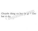 Bài 1 trang 62 SGK Vật lí 8