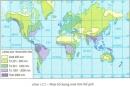 Sự phân bố lượng mưa trên Trái Đất