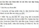 Bài 1 trang 98 SGK Địa lí 10