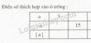 Bài 40 trang 79 SGK Toán 6 tập 1