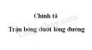 Chính tả: Trận bóng dưới lòng đường trang 56 SGK Tiếng Việt 3 tập 1