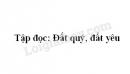 Kể chuyện bài Đất quý, đất yêu trang 86 SGK Tiếng Việt 3 tập 1