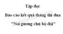 """Soạn bài Báo cáo kết quả tháng thi đua """" Noi gương chú bộ đội"""" trang 10 SGK Tiếng Việt 3 tập 2"""