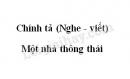 Chính tả bài Một nhà thông thái trang 37 SGK Tiếng Việt 3 tập 2