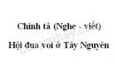 Chính tả bài Hội đua voi ở Tây Nguyên trang 63 SGK Tiếng Việt 3 tập 2
