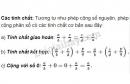 Lý thuyết tính chất cơ bản của phép cộng phân số