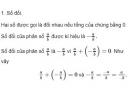 Lý thuyết phép trừ phân số