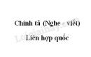 Chính tả bài Liên hợp quốc trang 100 SGK Tiếng Việt 3 tập 2