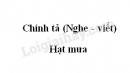 Chính tả bài Hạt mưa trang 119 SGK Tiếng Việt 3 tập 2