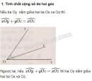 Lý thuyết. Khi nào góc xOy + góc yOz= góc xOz?