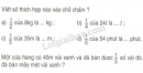 Bài 1, 2 trang 26 sgk Toán 3